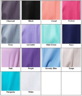 Waffle Weave Robe Color Chart for Etsy