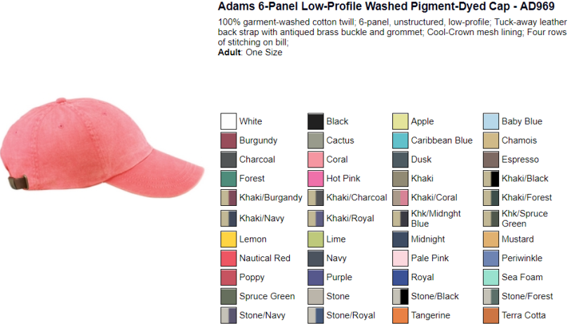 Adams 6-Panel Low Profile