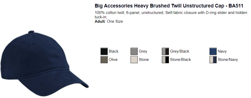 Big Accessories Heavy Twill