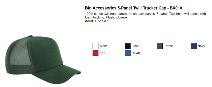 Big Accessories Trucker's Cap