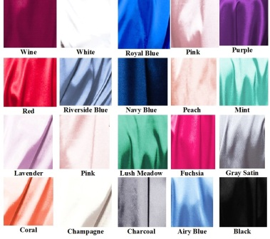 Satin Robe Colors
